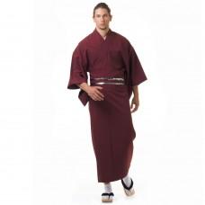Men's Yukata Kimono Claret red