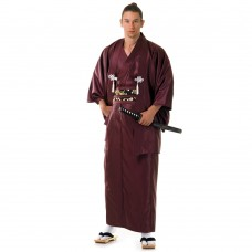 Japanese Samurai Kimono Claret red
