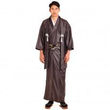 Japanese Samurai Kimono Dark Brown