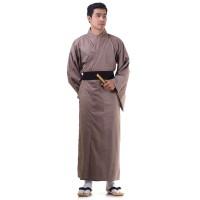 Men's Yukata Kimono Cotton Brown XKM87