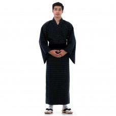 Japanese Men's Yukata Kimono Black