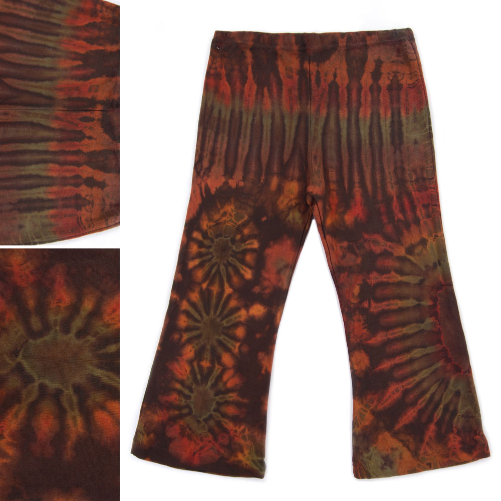 5bb56d768fadce Tie dye hippie bell bottom pants for kid.