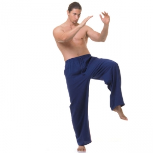 Navy Blue Kung Fu Thi Chi Pants