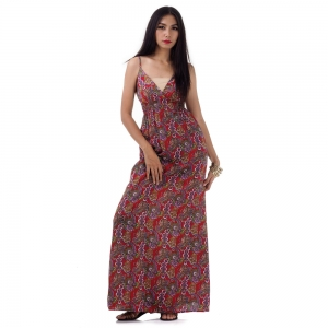 Long Summer Maxi Dress Red