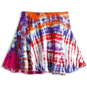 Hippie Tie Dye Skirt for Girls SKK2