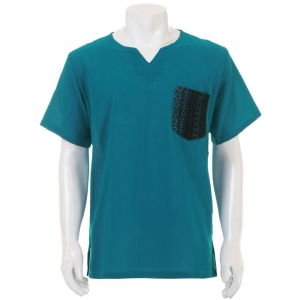 Turquoise Hippie Casual Short Sleeve Shirt