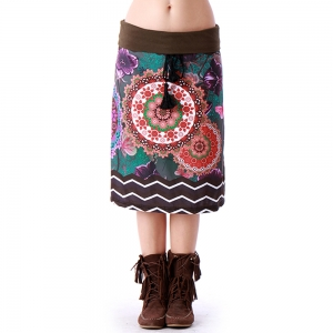 Knee A-line  skirt KP295