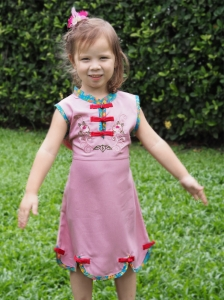 Qipao Chinese Dress for Girl QCkid1