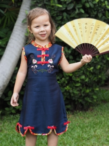 Qipao Chinese Dress for Girl QCkid3