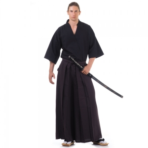 Kendo Samurai Costume Dark Brown-Black