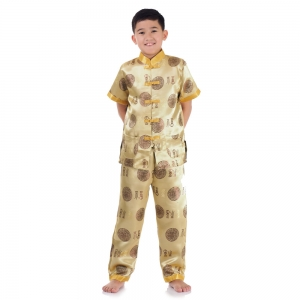 Boy Chinese Costumes Gold PKY2