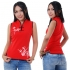 Red Women Chinese top
