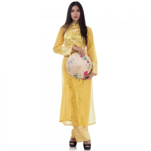 Traditional Vietnamese Ao Dai Costume
