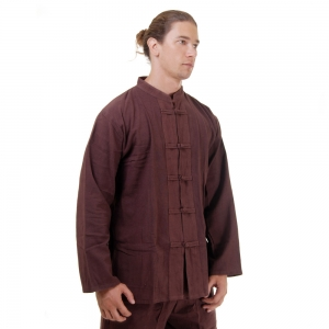 Kung Fu Tai Chi Shirt Cotton Brown