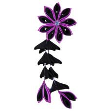 Flower hair clips for Japanese kimono-Purple-Black, Flower75