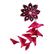 Flower hair clips for Japanese kimono-Pink-Black, Flower87