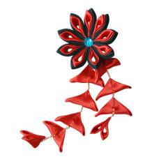 Flower hair clips for Japanese kimono, Flower89