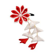Flower hair clips for Japanese kimono, Flower91