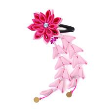 Flower hair clips for Japanese kimono-Pink-Hot pink, Flower92