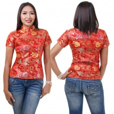 Red Traditional Chinese Top QLGR10
