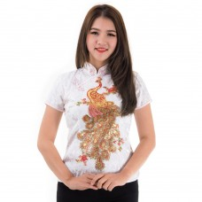 White Traditional Chinese Blouse QLGW