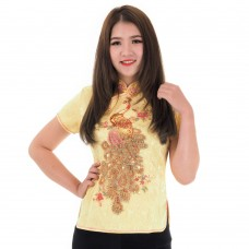 Yellow Traditional Chinese Blouse QLGY13