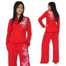 Red Women Kung Fu Suit