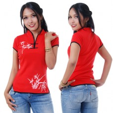 Women Chinese Top in Red