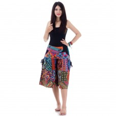 Patchwork  Harem Short Pants