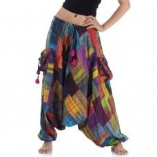 Patchwork Harem Pants FAS574