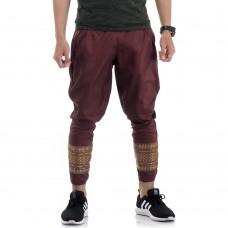 Traditional Thai Pattern Harem Pants, Thai Costume for Men THAI10Men