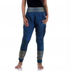 Blue Traditional Thai Pattern Harem Pants for Women FAT9W