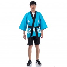 Happi Kimono Coat, Japanse Fancy Costume Light blue Huppi1