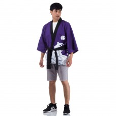 Purple Japanese Happi Kimono Coat Huppi39