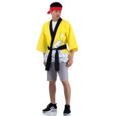 Yellow Happi Kimono, Japanese kimono, Japanese costume, Japanese traditional costume Huppi40