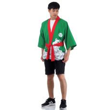 Green Japanese Happi Kimono Coat Huppi44