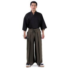 Kendo Samurai Costume Dark Brown-Black HK84