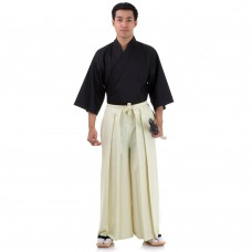 Kendo Samurai Costume Light Yellow-Black HK85