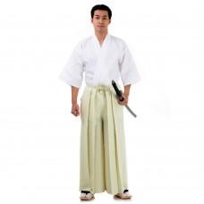 Kendo Samurai Costume Light Yellow-White HK87