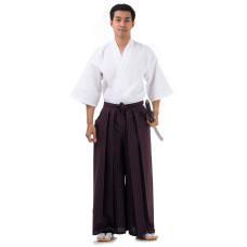 Kendo Samurai Costume Claret Red-White HK88