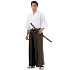 Kendo Samurai Costume Dark Brown-White HK89