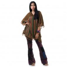 Brown Hippie Goa Patchwork Poncho RC972