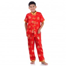 Boy Chinese Costumes Gold PKR3