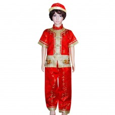 Boy Chinese Costumes Gold PKR7