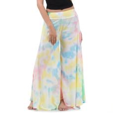Batik Tie Dye Skirt pants, open leg pants Bohemian style RBB8B