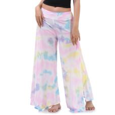 Batik Tie Dye Skirt pants, open leg pants Bohemian style in Pink tone RBB9B