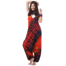 Red Batik Jumpsuit Jumper Overall Harem Pants RDP247