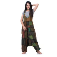 Hippie Jeans Patchwork Jumpsuit Overalls RDP438