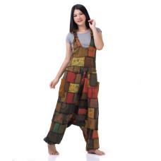 Hippie Jeans Patchwork Jumpsuit Overalls RDP441
