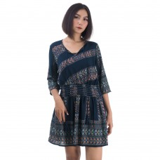 Hippie Bohemian Style Tunic Navy blue RD477